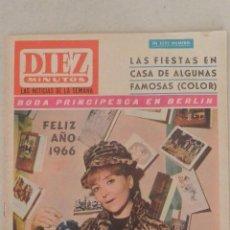 Coleccionismo de Revista Diez Minutos: REVISTA DIEZ MINUTOS. Lote 45485739