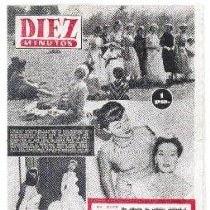 Coleccionismo de Revista Diez Minutos: REVISTA DIEZ MINUTOS MADRID BARCELONA 31 DE MAYO DE 1953 Nº 92.. Lote 45637710