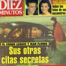 Coleccionismo de Revista Diez Minutos: REVISTA DIEZ MINUTOS - Nº 2377 - MARZO 1997 - LEQUIO-MAR FLORES - VICENTE PARRA - LOLITA. Lote 45777172