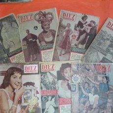Coleccionismo de Revista Diez Minutos: LOTE DE 7 REVISTAS DIEZ MINUTOS AÑOS 50. Lote 46653064
