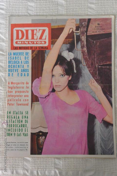 REVISTA DIEZ MINUTOS Nº 745 4 DICIEMBRE 1965 (Coleccionismo - Revistas y Periódicos Modernos (a partir de 1.940) - Revista Diez Minutos)