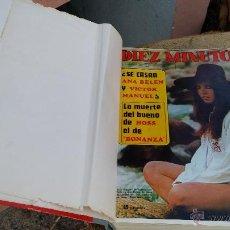Coleccionismo de Revista Diez Minutos: ANTIGUA ENCUADERNACION DE REVISTAS DIEZ MINUTOS. INTERESANTE. Lote 47766908