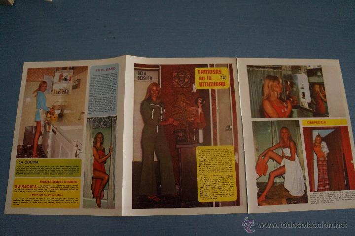 REVISTA DIEZ MINUTOS REPORTAJE TRIPTICO A DOS CARAS DE GELA GEISLER (Coleccionismo - Revistas y Periódicos Modernos (a partir de 1.940) - Revista Diez Minutos)