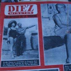 Collezionismo di Rivista Diez Minutos: LESLIE CARON CHARLES AZNAVOUR LIZ TAYLOR MIS ALEMANIA MARILYN MONROE SEAN FLYNN JEAN SOREL SANDRA. Lote 51362225
