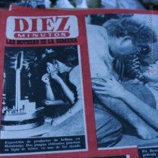 Coleccionismo de Revista Diez Minutos: LIZ TAYLOR MARINA VLADY 1962. Lote 51362325