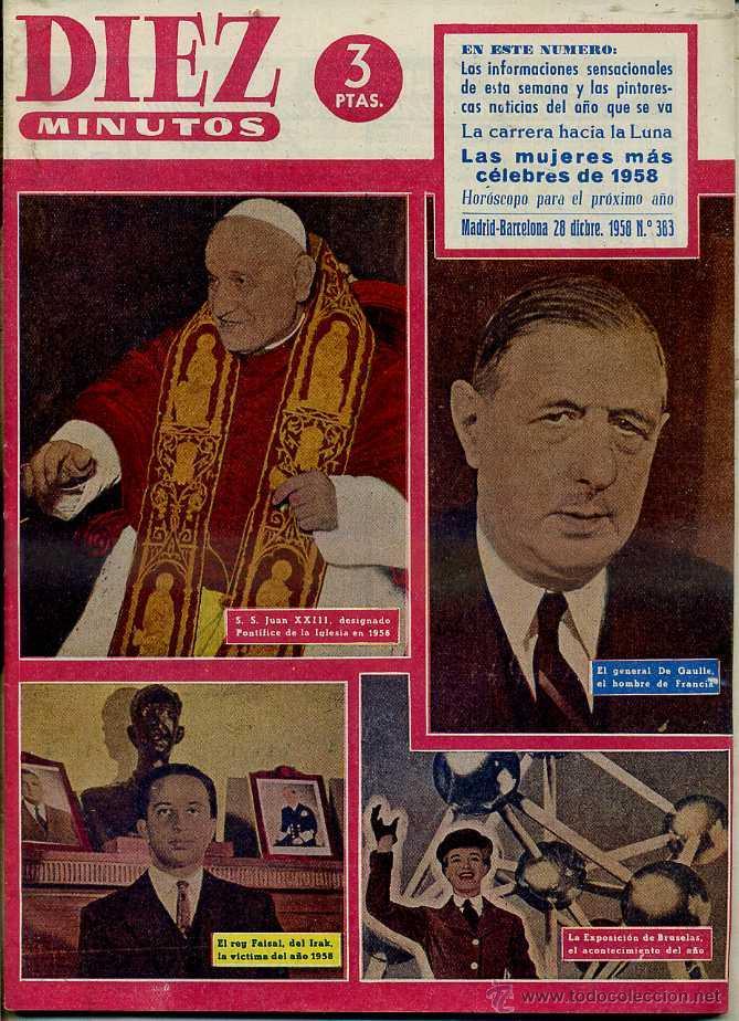 170 REVISTAS DIEZ MINUTOS AÑOS 1958 A 1960 (Coleccionismo - Revistas y Periódicos Modernos (a partir de 1.940) - Revista Diez Minutos)