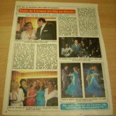 Coleccionismo de Revista Diez Minutos: CARMEN SEVILLA CANTINFLAS LOLA FLORES ARTICULOS RECORTES REVISTA DIEZ MINUTOS. Lote 52635665