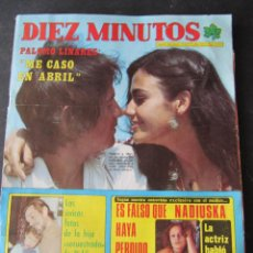 Coleccionismo de Revista Diez Minutos: REVISTA DIEZ MINUTOS. Nº 1334. AÑO 1977. PALOMO LINARES. NADIUSKA. COMIC: MARCO, SERIE DE TVE. Lote 53097253