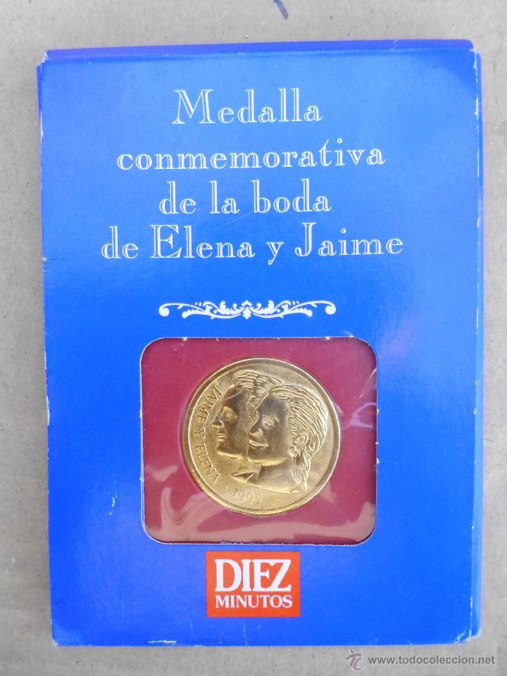 MONEDA CONMEMORATIVA DE LA BODA DE INFANTA ELENA Y JAIME DE MARICHALAR EN 1995 (Coleccionismo - Revistas y Periódicos Modernos (a partir de 1.940) - Revista Diez Minutos)