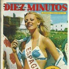 Coleccionismo de Revista Diez Minutos: CATHERINE DENEUVE REPORTAJE DE 2 PAGINAS, REVISTA DIEZ MINUTOS Nº 1088, 1/7/1972. Lote 53247901