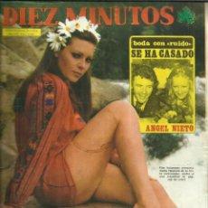 Coleccionismo de Revista Diez Minutos: REVISTA DIEZ MINUTOS. JUNIO. 1975. Nº 1243. ANGEL NIETO. GRUNO LOMAS. RAFAELA APARICIO.. Lote 53740191