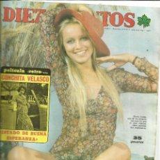 Coleccionismo de Revista Diez Minutos: REVISTA DIEZ MINUTOS. NOVIEMBRE. 1975. Nº 1243. CONCHITA VELASCO. GLORIA GULDA. ALFONSO DEL REAL. Lote 53740239