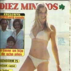 Coleccionismo de Revista Diez Minutos: REVISTA DIEZ MINUTOS. JULIO. 1975. Nº 1248. SENTA FIORI. KOJAK. DUQESA DE ALBA. NURIA ESPERT. Lote 53740303