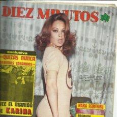 Coleccionismo de Revista Diez Minutos: REVISTA DIEZ MINUTOS. OCTUBRE. 1975. Nº 1259. LA POLACA. KARINA. MARIA ASQUERINO. RAPHAEL. Lote 53740951