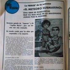Coleccionismo de Revista Diez Minutos: RECORTE EL METEORO SUBMARINO . Lote 115775115