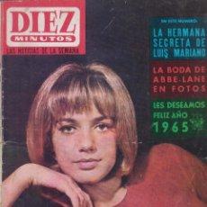 Coleccionismo de Revista Diez Minutos: DIEZ MINUTOS. Nº 697 ENERO 1965, -CATHERINA SPAAK, ABBE LANE,. Lote 57109198