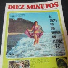 Coleccionismo de Revista Diez Minutos: REVISTA DIEZ MINUTOS 8/8/70 LENIN BODA ALBANO Y ROMINA MONICA RANDALL VICTOR MANUEL. Lote 57772295