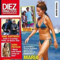 Coleccionismo de Revista Diez Minutos: REVISTA DIEZ MINUTOS Nº 3350. 4 NOVIEMBRE 2015. MARÍA PATIÑO ESCAPADA CON SU NOVIO.. Lote 58245165