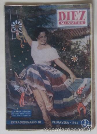 REVISTA DIEZ MINUTOS - CARMEN SEVILLA (Coleccionismo - Revistas y Periódicos Modernos (a partir de 1.940) - Revista Diez Minutos)