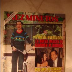 Coleccionismo de Revista Diez Minutos: REVISTA DIEZ MINUTOS CARMEN MARTINEZ BORDIU. Lote 32791869