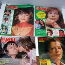 Coleccionismo de Revista Diez Minutos: LOTE DIEZ MINUTOS + 3 SEMANAS AÑO 1973 1975 - KARINA ONASSIS CORDOBES MARISOL .... Lote 61507591