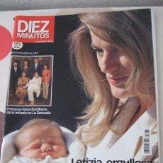 Coleccionismo de Revista Diez Minutos: LETIZIA,ORGULLOSA DE SU HIJA LEONOR.18 NOVIEMBRE 2005. Lote 62121712