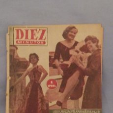 Coleccionismo de Revista Diez Minutos: REVISTA DIEZ MINUTOS - 15 DE AGOSTO DE 1954 - NUMERO 155 - HEDDY KRUGER LLEGA A PARIS.. Lote 63672519