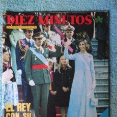 Coleccionismo de Revista Diez Minutos: REVISTA DIEZ MINUTOS Nº 1267 AÑO 1975 -EL REY CON SU PUEBLO -8 DIAS PARA LA HISTORIA -CARMEN SEVILLA. Lote 68043937