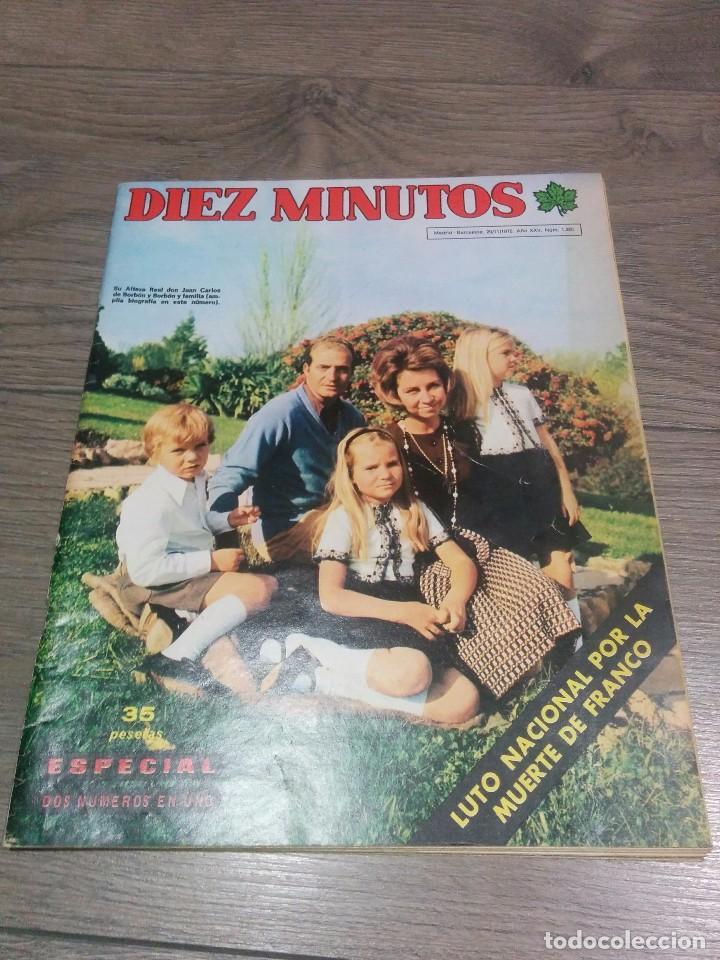 REVISTA ANTIGUA ( DIEZ MINUTOS) AÑO 1975 (Coleccionismo - Revistas y Periódicos Modernos (a partir de 1.940) - Revista Diez Minutos)