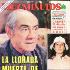 Coleccionismo de Revista Diez Minutos: DIEZ MINUTOS Nº 1726 AÑO 1984 - ISMAEL MERLO-FRANCISCO-MANOLO ESCOBAR-EL PESCADILLA (MEMORIAS). Lote 72935559