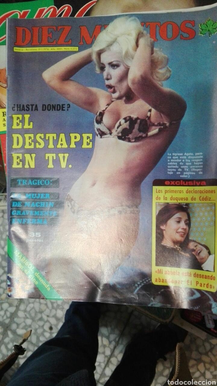 DIEZ MINUTOS 1976 N1275 EL DESTAPE EN TV (Coleccionismo - Revistas y Periódicos Modernos (a partir de 1.940) - Revista Diez Minutos)