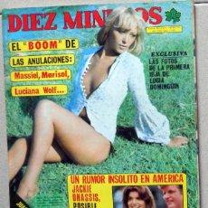 Coleccionismo de Revista Diez Minutos: REVISTA DIEZ MINUTOS Nº1260 AÑO 1975.POSTER RAPHAEL - MARA VILA SEX EROTICO. KENNEDY. Lote 78278209