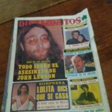 Coleccionismo de Revista Diez Minutos: REVISTA DIEZ MINUTOS AÑO 1980 JOHN LENNON, BRIGITTE BARDOT. Lote 83652884
