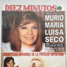 Coleccionismo de Revista Diez Minutos: DIEZ MINUTOS N 1915 / AÑO 1988 / MUERTE MARIA LUISA SECO. Lote 83662410