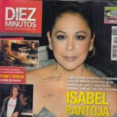 Collectionnisme de Magazine Diez Minutos: REVISTA DIEZ MINUTOS Nº 3095 AÑO 2010. ISABEL PANTOJA. PENELOPE CRUZ. FRAN Y CECILIA.. Lote 87007452