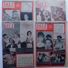Coleccionismo de Revista Diez Minutos: 4 REVISTAS 10 MINUTOS ( 1954 - 1961 ). Lote 88344032