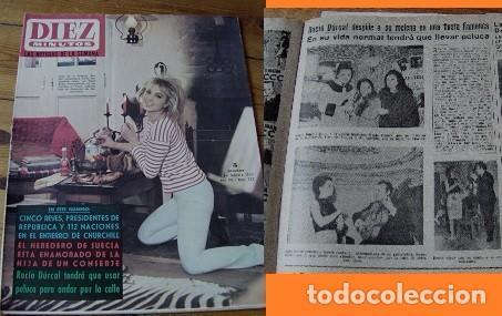 REVISTA DIEZ MINUTOS 1965 ROCÍO DÚRCAL (Coleccionismo - Revistas y Periódicos Modernos (a partir de 1.940) - Revista Diez Minutos)