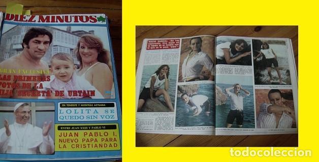 REVISTA DIEZ MINUTOS 1978 ROCÍO DÚRCAL (Coleccionismo - Revistas y Periódicos Modernos (a partir de 1.940) - Revista Diez Minutos)