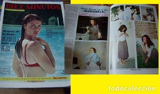 REVISTA DIEZ MINUTOS 1972 ROCÍO DÚRCAL (Coleccionismo - Revistas y Periódicos Modernos (a partir de 1.940) - Revista Diez Minutos)