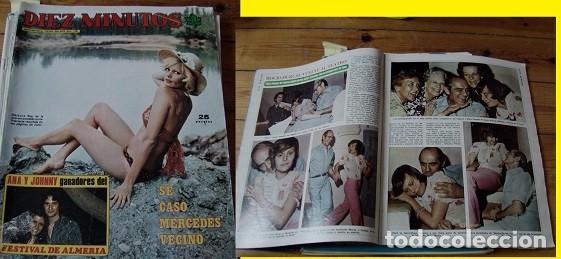 REVISTA DIEZ MINUTOS 1974 ROCÍO DÚRCAL (Coleccionismo - Revistas y Periódicos Modernos (a partir de 1.940) - Revista Diez Minutos)