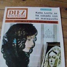Coleccionismo de Revista Diez Minutos: REVISTA DIEZ MINUTOS 1966 PORTADA ROCÍO DÚRCAL. Lote 90118600