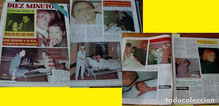 REVISTA DIEZ MINUTOS 1977 ROCÍO DÚRCAL (Coleccionismo - Revistas y Periódicos Modernos (a partir de 1.940) - Revista Diez Minutos)