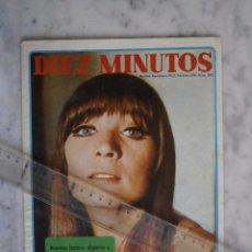 Coleccionismo de Revista Diez Minutos: POSTER REVISTA DIEZ MINUTOS - SONIA BRUNO - LADY ESPAÑA 1968 - MIDE 27 X 20 C.M.. Lote 91343360
