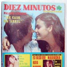 Coleccionismo de Revista Diez Minutos: DIEZ MINUTOS Nº 1334. MARZO 1977. PALOMO LINARES, NADIUSKA + POSTERS MARY FRANCIS Y MICKY. Lote 91876950