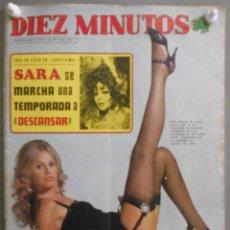 Coleccionismo de Revista Diez Minutos: XX35 SARA MONTIEL REVISTA ESPAÑOLA DIEZ MINUTOS ENERO 1975. Lote 97223163
