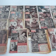 Coleccionismo de Revista Diez Minutos: DIEZ MINUTOS - LOTE - REVISTAS AÑOS 50. Lote 97363463