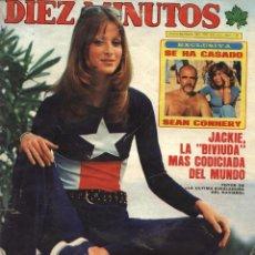 Coleccionismo de Revista Diez Minutos: REVISTA DIEZ MINUTOS Nº 1231, 29-03-1975: SEAN CONNERY CASADO, DON JAIME DE BORBÓN MUERE Y ONASSIS. Lote 97721803