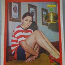 Coleccionismo de Revista Diez Minutos: POSTER DE LA REVISTA DIEZ MINUTOS. AÑO 1972. ACTRICES ACTORES CANTANTES. 40 X 27 CM. ANA BELÉN.. Lote 98515999