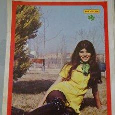 Coleccionismo de Revista Diez Minutos: POSTER DE LA REVISTA DIEZ MINUTOS. AÑO 1972. ACTRICES ACTORES CANTANTES. 40 X 27 CM. MARÍA MONTEZ. Lote 98516015