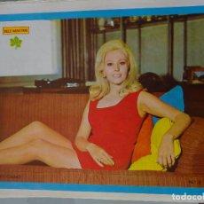 Coleccionismo de Revista Diez Minutos: POSTER DE LA REVISTA DIEZ MINUTOS AÑO 1972. ACTRICES ACTORES CANTANTES 40 X 27 CM FANNY CANO. Lote 98516051